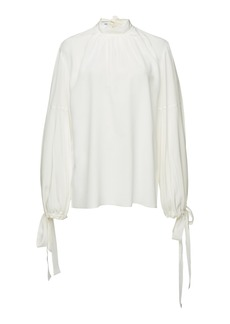 Prada Tie-Detailed Chiffon Blouse
