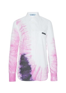 Prada Tie-Dye Cotton-Poplin Shirt