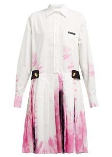 Prada Tie-dye cotton shirtdress