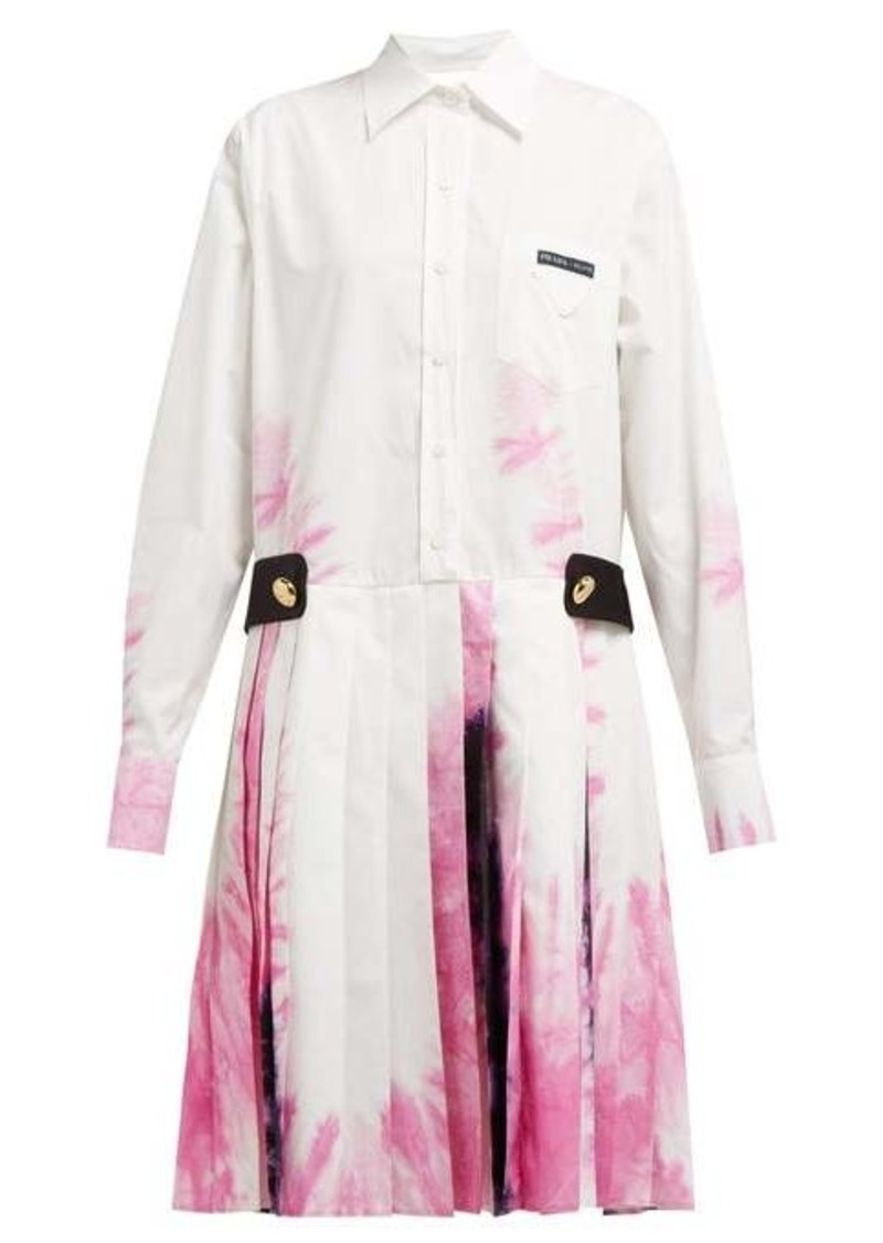 Prada Tie-dye cotton shirtdress