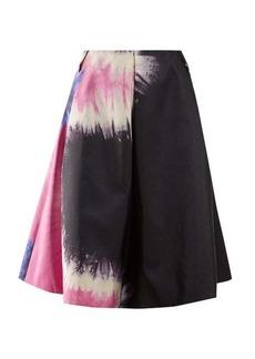 Prada Tie dye-print silk skirt