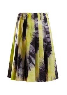 Prada Tie-dye silk-faille skirt