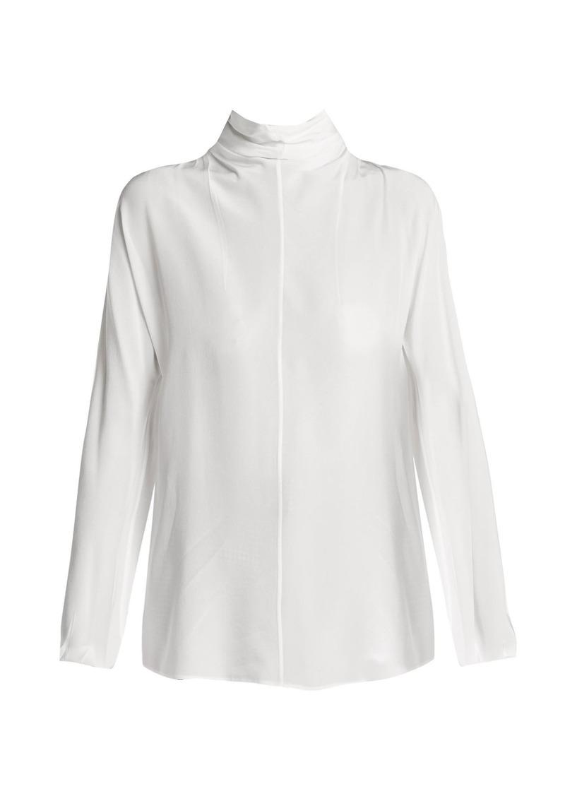 4755566552186 On Sale today! Prada Prada Tie-neck silk blouse