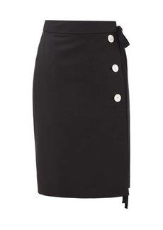 Prada Tie-waist mohair-blend skirt