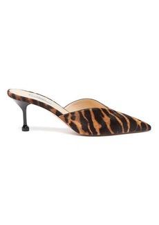 Prada Tiger-print calf-hair mules