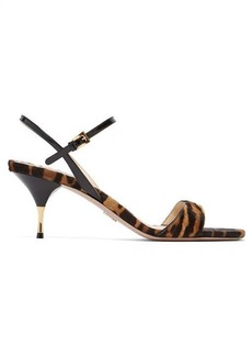 Prada Tiger-print calf-hair sandals