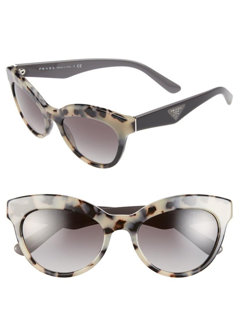 Prada Metal Bridge Cat Eye Acetate Sunglasses
