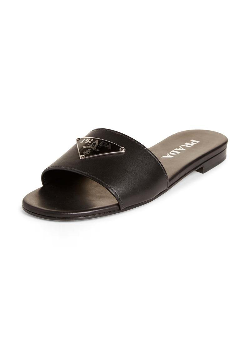 Prada Triangle Logo Slide Sandal (Women)