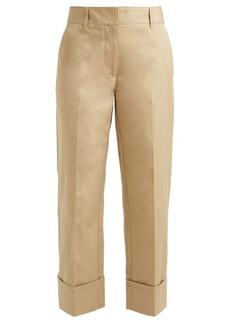 Prada Turn-up cuff cotton trousers