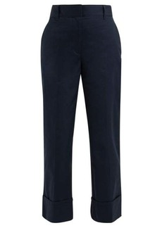 Prada Turn-up cuff cotton trousers