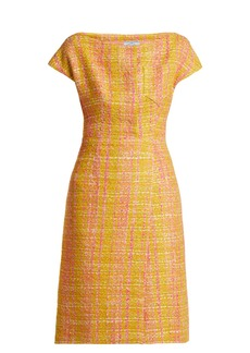 Prada Tweed bouclé midi dress