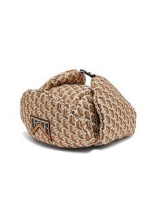 Prada Twist jacquard brocade trapper hat