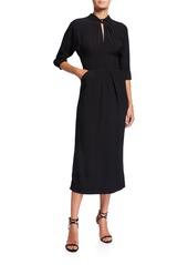 Prada Twisted-Neck Midi Dress