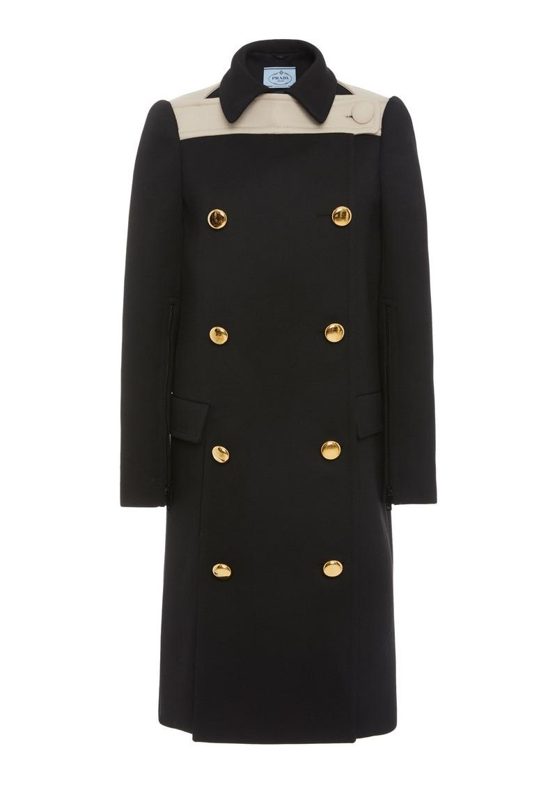 Prada Two-Tone Double-Breasted Wool Coat