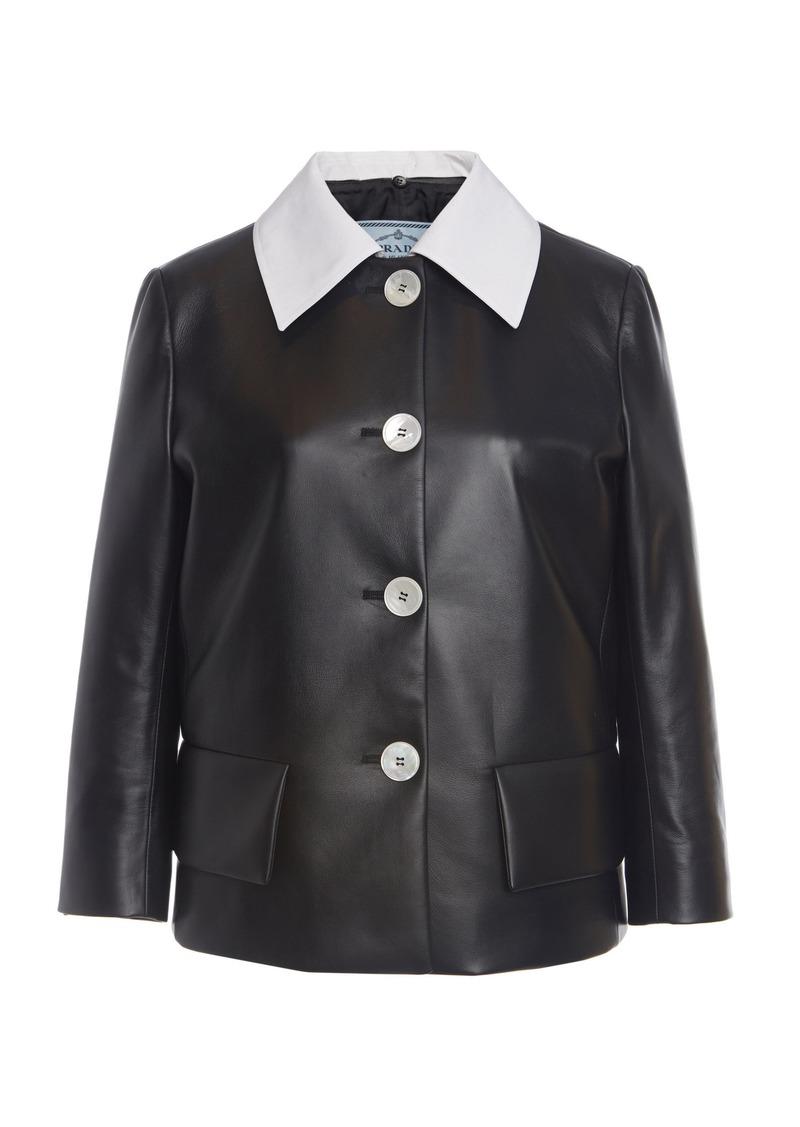 Prada Two-Tone Leather Jacket