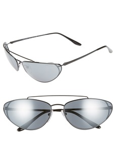 Prada Ultravox 66mm Oversize Mirrored Wrap Sunglasses