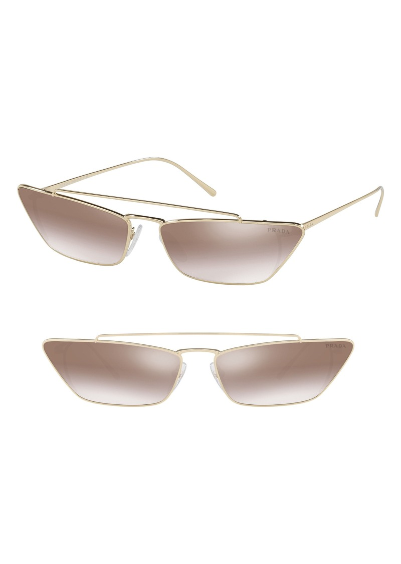 Prada Ultravox 67mm Oversize Cat Eye Sunglasses