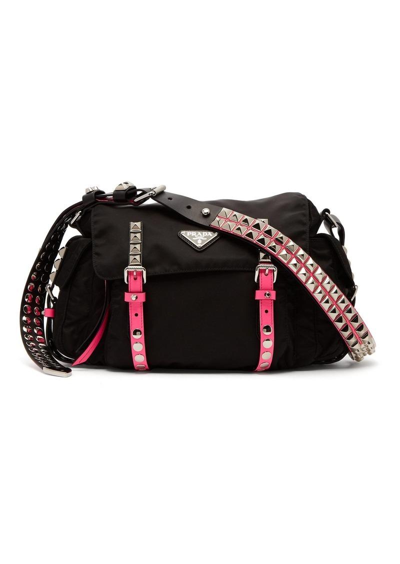 eabeb2ea8c0fbf Prada Prada Vela leather trimmed cross-body bag | Handbags