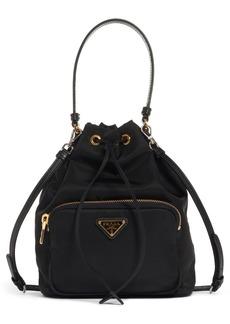 Prada Vela Nylon Bucket Bag