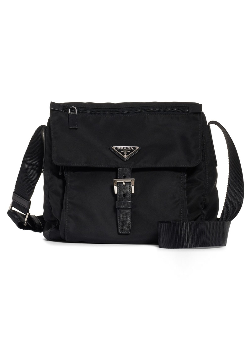 Prada Vela Nylon Messenger Bag