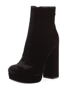 Prada Velvet Block-Heel Platform Boot