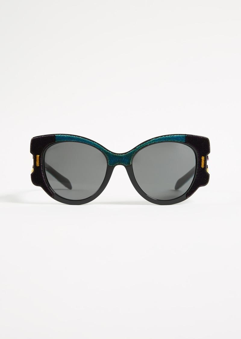 e11f51cf4d Prada Prada Velvet Cat Eye Sunglasses Now  195.00