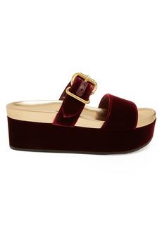 Prada Velvet double-strap flatform sandals