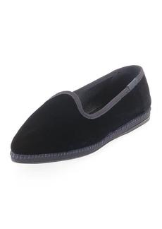 Prada Velvet Slip-On Flat