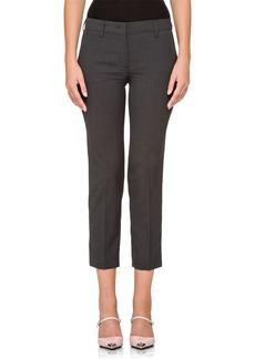 Prada Virgin Wool Straight Cropped Pants