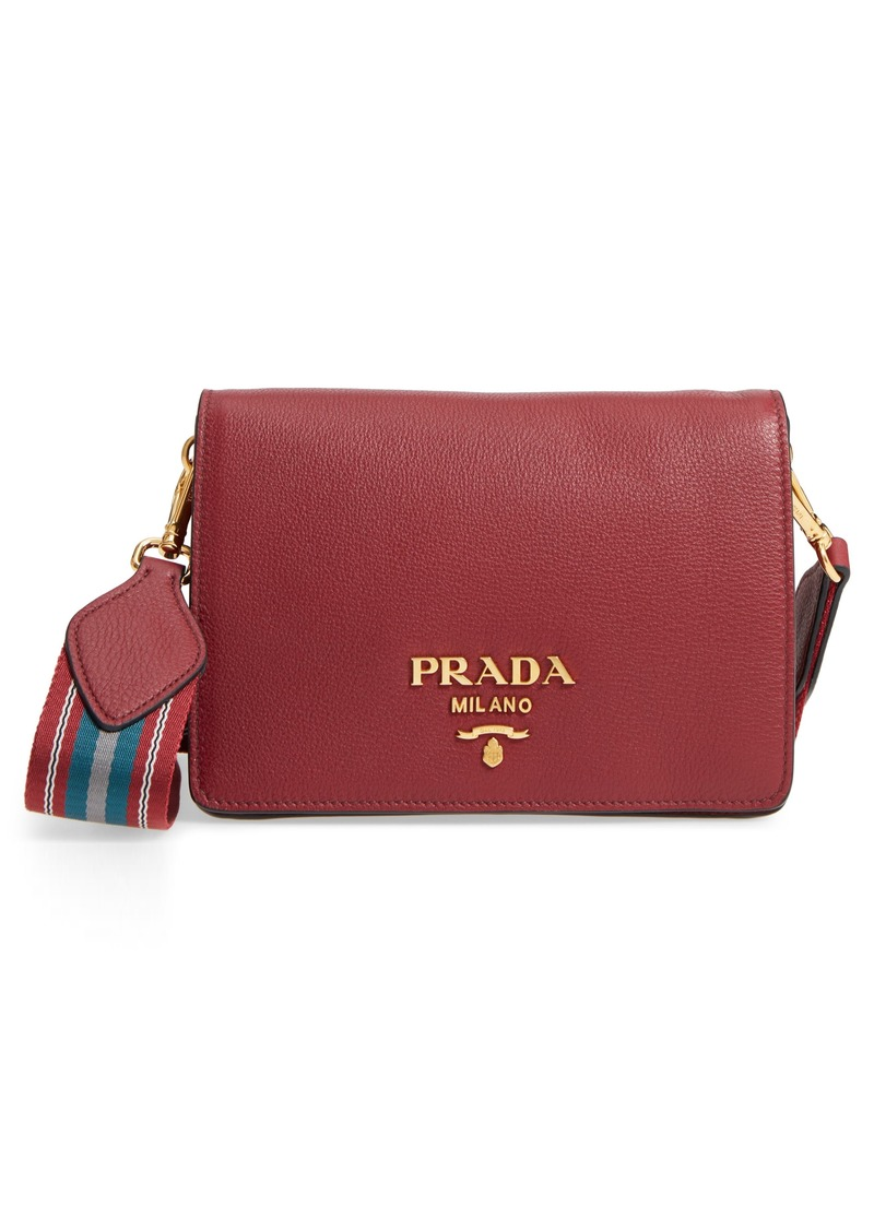 4b9b9c58c693 Prada Prada Vitello Daino Double Compartment Leather Shoulder Bag ...