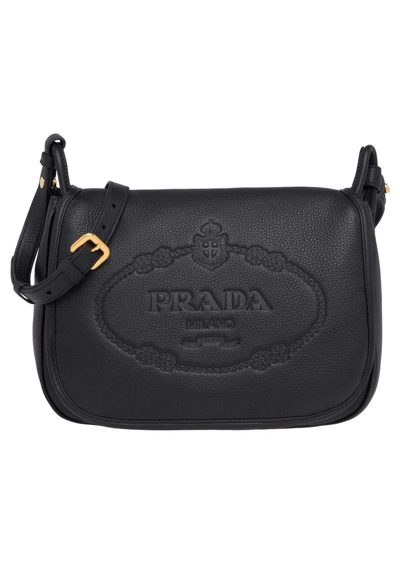 d3ff9858aa5e Prada Prada Vitello Daino Heritage Logo Leather Crossbody Bag | Handbags