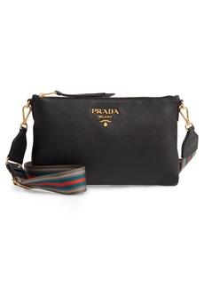 095da7c5a866 Prada Vitello Daino Leather Crossbody Messenger Bag