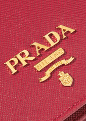 7f37c9f328cb ... Prada Wallet On A Chain textured-leather shoulder bag ...