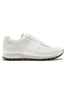 Prada White low-top leather trainers