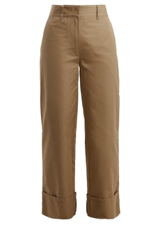 Prada Wide-leg cotton trousers