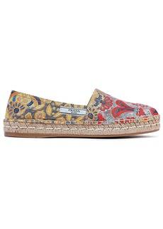 Prada Woman Brocade Espadrilles Multicolor
