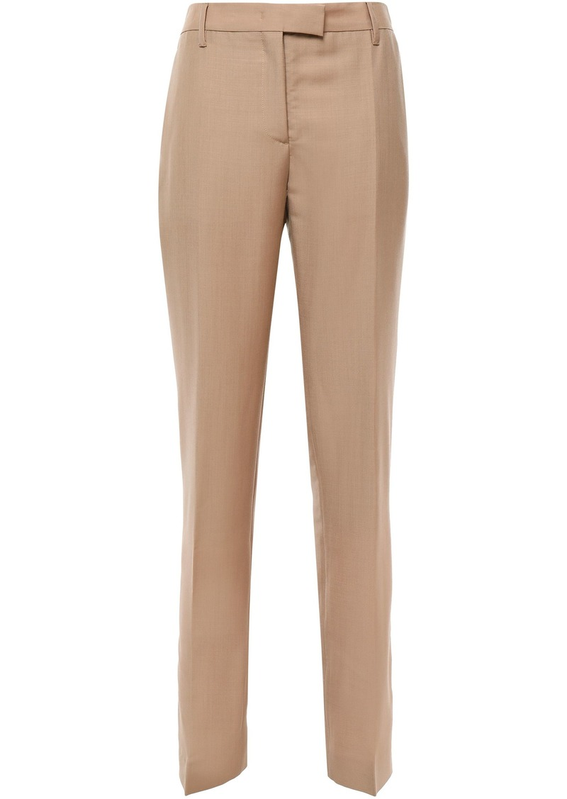Prada Woman Mohair And Wool-blend Straight-leg Pants Sand
