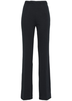Prada Woman Ribbed Jersey Flared Pants Black