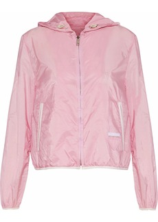Prada Woman Shell Hooded Jacket Baby Pink