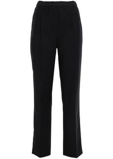 Prada Woman Shell-paneled Wool-blend Straight-leg Pants Black
