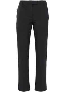 Prada Woman Stretch-twill Straight-leg Pants Black