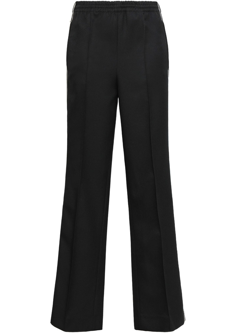 Prada Woman Striped Tech-jersey Track Pants Black