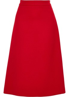 Prada Woman Wool-gabardine Skirt Red