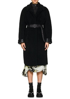 Prada Women's Belted Shearling Coat