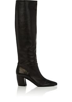 Prada Women's Black Leather Knee Boots