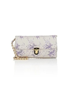 Prada Women's Brocade Shoulder Bag - Purple