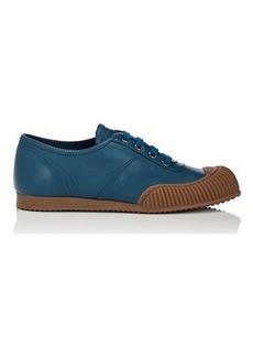 Prada Women's Cap-Toe Leather Sneakers
