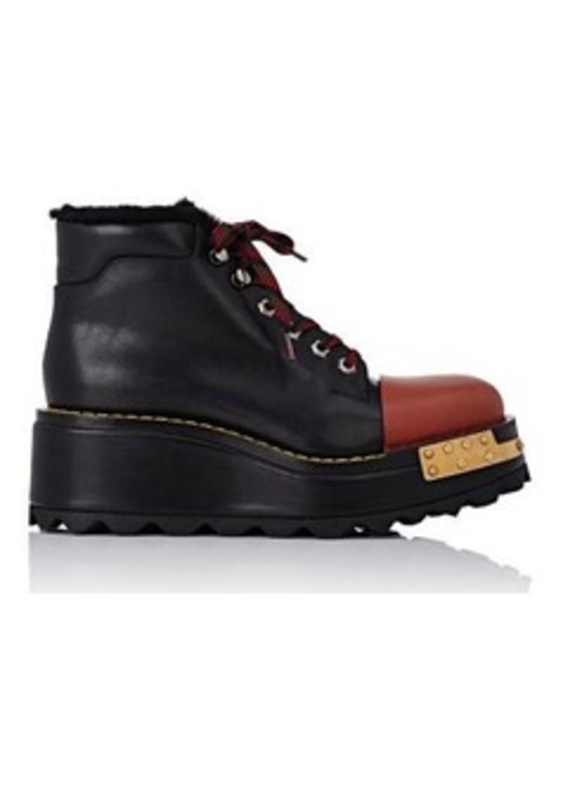 7ebd85d5a2ca Prada Prada Women s Cap-Toe Platform Hiking Boots