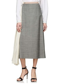 Prada Women's Contrast Godet Skirt