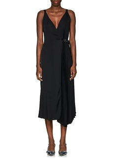 Prada Women's Crepe Belted Wrap-Front Dress
